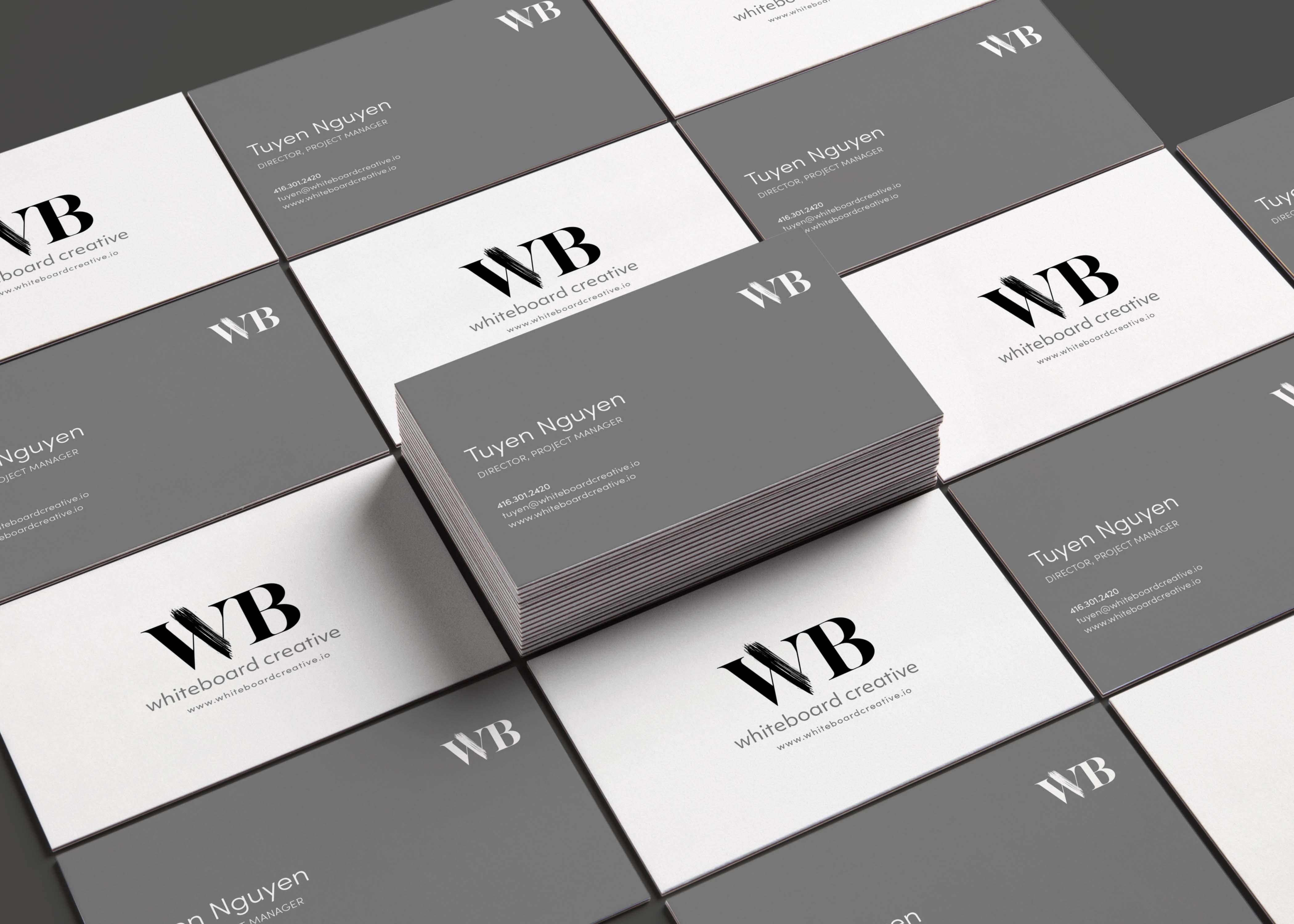 whiteboard creative lab business card design